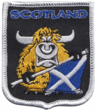 Scotland Highland Cow Cartoon Embroidered Badge (a312)